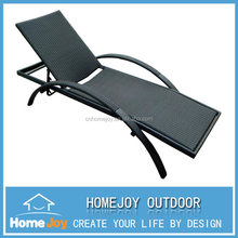 Hot selling outdoor lounge bed, rattan sun lounger