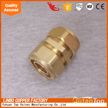 213-02 brass compression fitting for copper pipe (PEX FITTING SWIVEL BRASS ELBOW 90/PLASTIC NUT(BARB X FPT))(LEAD FREE)