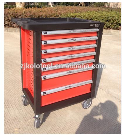 6 drawers swiss kraft cabinet tools trollery set tools box with stubby mechanic tools