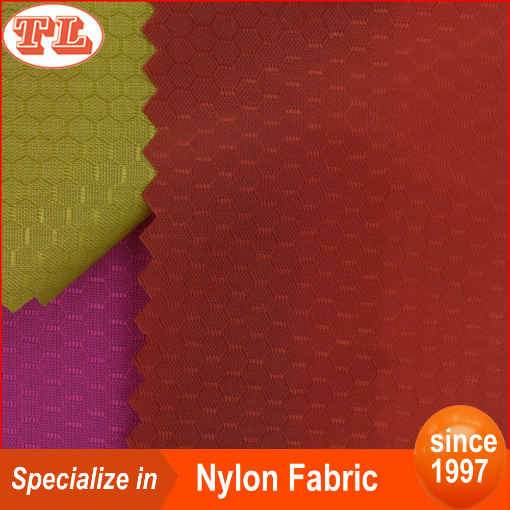 ripstop nylon 70D 190t football grid nylon rip stop nylon taffeta fabric with pu coated