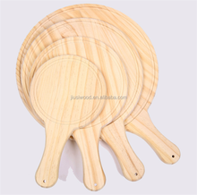 Wooden Kitchen Accessories Round Wood Pizza Serving Tray