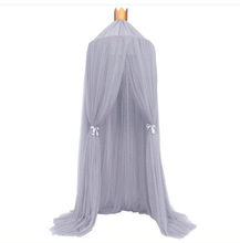 Top Quality Children Dreamlike Solid Color Gentle Princess 100% Cotton Bedroom Curtain Kids Room Living Room Decoration