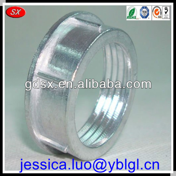 ISO9001:2008 passed zinc plated carbon/mild/harden steel electrical conduit bushing,thread reducer bush,metric thread screw bush