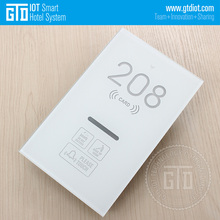 Electronic Lock Integrated Tempered Glass Touch Doorplate Doorbell with DND MUR and Room Status Functions