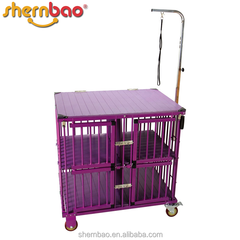 Shernbao KB-511 Portable Aluminium Dog Carrier Kennel Cage Pet Transport Car Cages