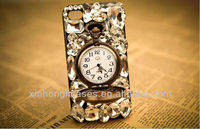 luxurious Diamond case for iphone5 with pocket watch
