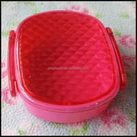 wholesale New PLASTIC Bento Jewel Lunch Box bento box container in Pink made in china,custom plastic bento box container factory