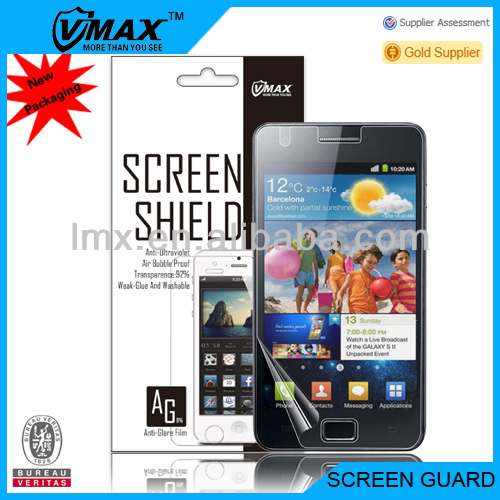 Vmax Factory Supply Mobile Phone screen protector for Samsung galaxy S2 I9100 screen protector oem/odm (Anti-Glare)