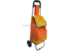 Eco-friendly pulley shopping bag, folding roller car bag, shopping cart bag
