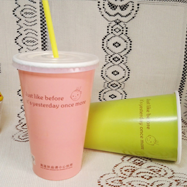 Biodegradable Disposable Hot or Cold Printed for Coffee Wholesale Single Wall Paper Cups