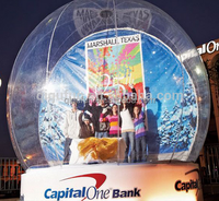 Hot sale PVC Christmas 8ft inflatable snow globe /christmas inflatable