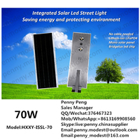 DC 12v 70w Led solar street/garden lights for road