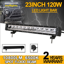Owllights Super Bright 23inch LED Light Bar 4x4 120w Offroad LED Light Bar for Truck