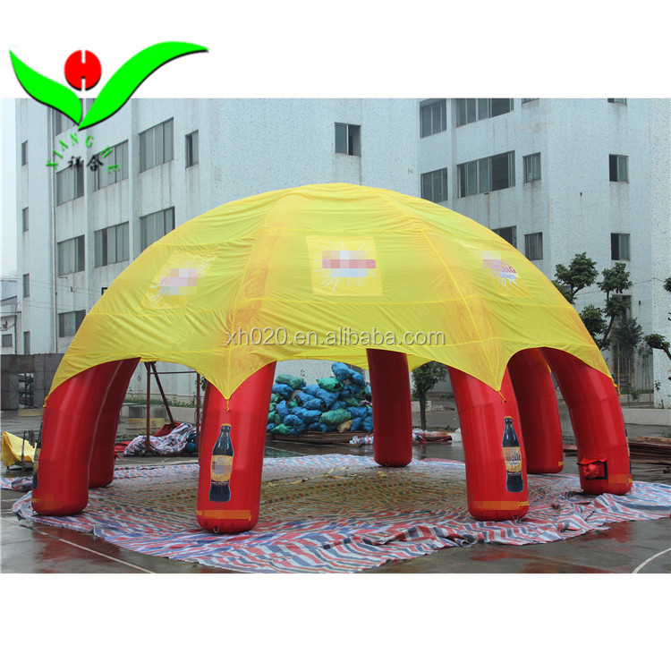 Commercial PVC tarpaulin advertising inflatable spider tent for exhibition show Dia10m High 5m with logo banner