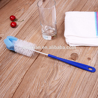 Latest style deep cleaning bacterial remover soft plastic bottle brush sponge brush cup brush