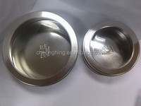 Fancy and beautiful SILVER round PVC/PET window tin box