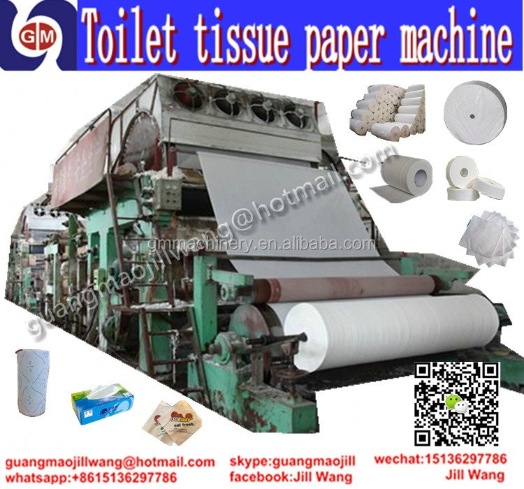 2400mm guangmao hot selling Automatic PLC system hygiene towel toilet tissue paper towel making machine for sale
