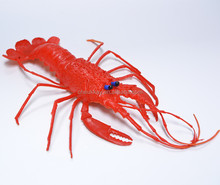 eco-friendly small plastic animal figures Simulated lobster pvc children's toy