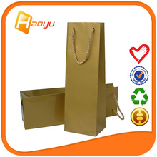 Promotional recycle wine paper bag for packaging bag