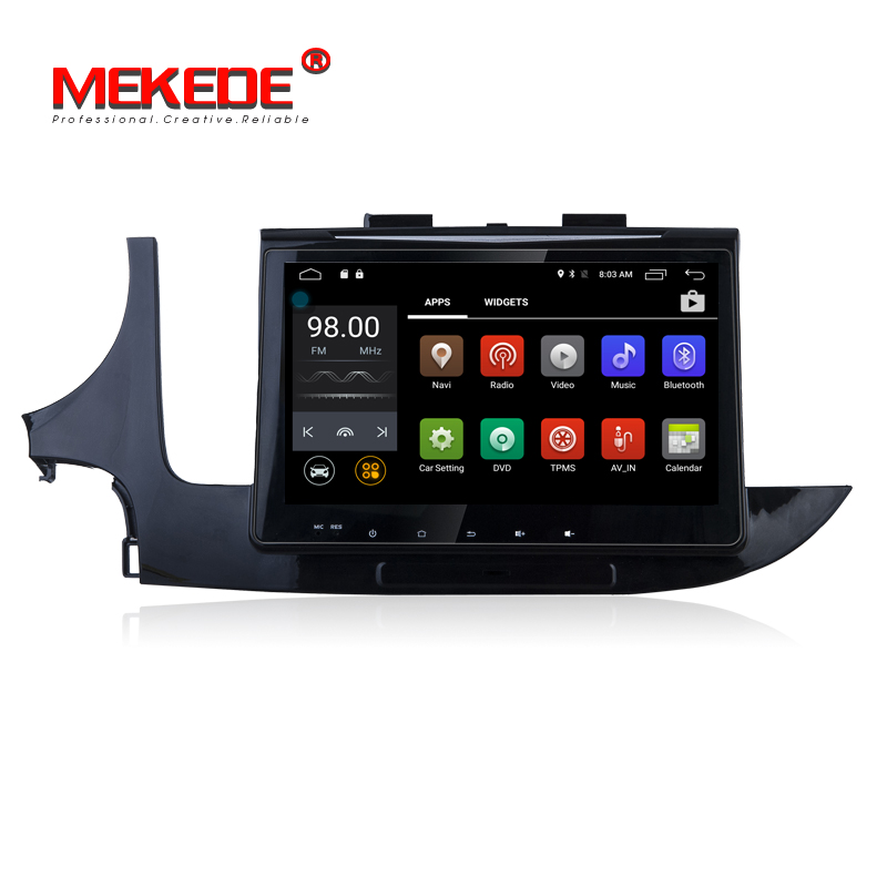 CE FCC Mekede factory price car dvd player for Opel mokka 2016 android 7.1 quad core car audio player