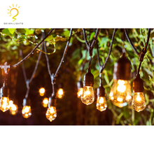2018 hot sell in AU EU US party garden wedding use 100m outdoor lighting cable led festoon lamp holders string lights
