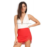 Hot yong girls high waist red sexy very short mini skirt