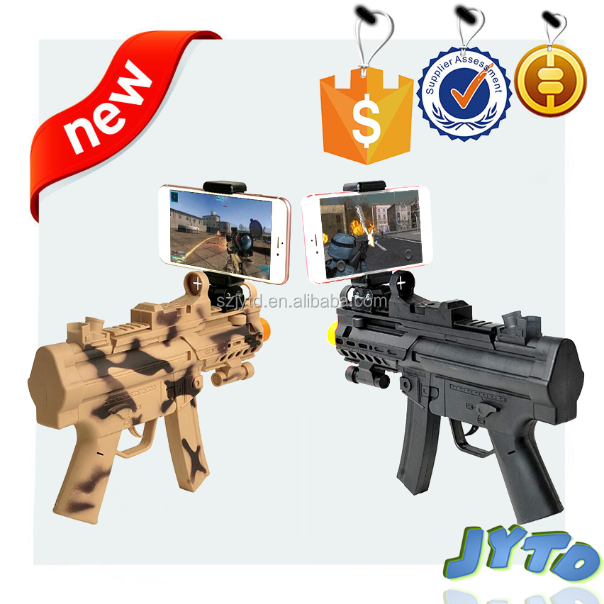 High Technological Augmented Reality Toy Gun with Cell Phone Stand Holder AR gun toy with 3D AR Games