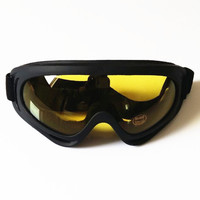Wholesale Cheap CE UV400 Night Vision Biker Motorcycle Ski Goggles Safety Sports Glasses