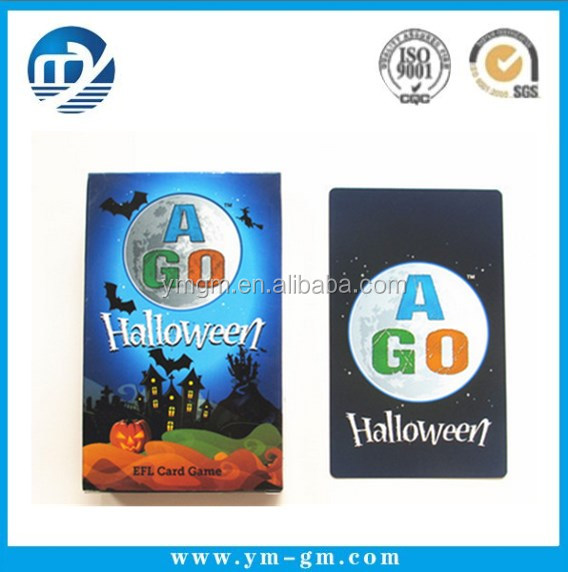 Halloween card puzzle game custom playing cards