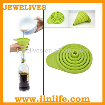 Promotion bpa free large collapsible silicone funnel