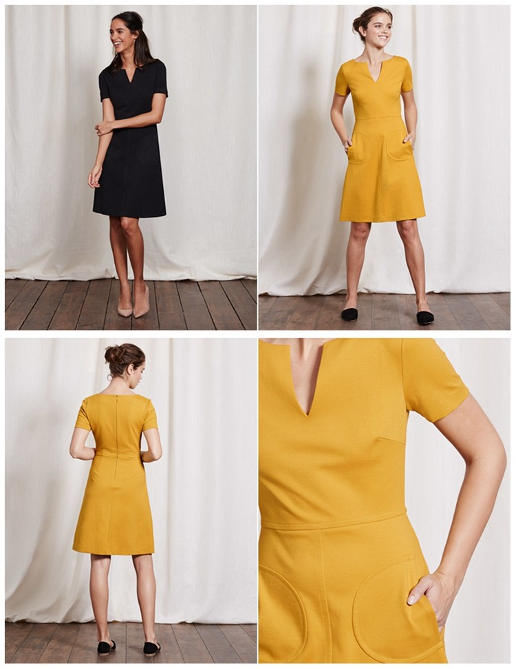 YEEL best selling hot chinese products comfortable concealed back zip Carolyn Ponte dress