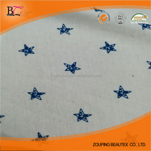 High quality 60 cotton 40 modal single printted jersey fabric in stock