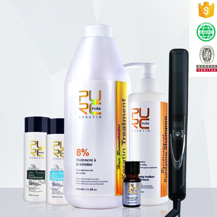 Private label hair salon hair care products PURE brand keratin set OEM/ODM acceptable hair treatment at home