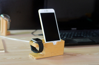 High Quality Bamboo Charging Stand , For Apple Watch Stand Holder Charging docking station