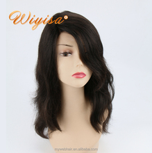 Brazilian natural 100% Virgin human hair body wave lace front wigs for black women