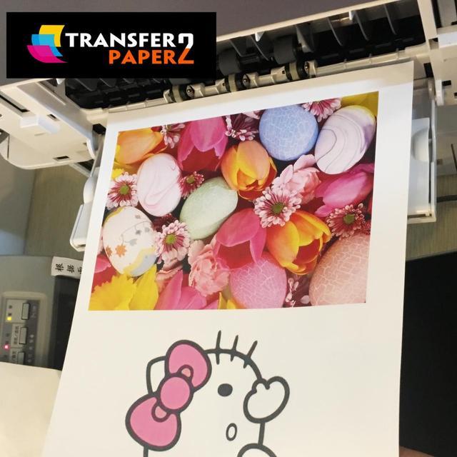 self weeding no cut A+B Laser Dark Transfer Paper for garment and t-shirt