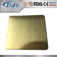 304 decorative golden hairline finish stainless steel sheet