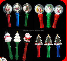 Light-Up blinking flashing LED Magic LED Spinning christmas decoration gifts promotional Snowman Light Wand
