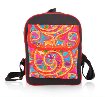 2016 hot sale Hmong style canvas girls hmong embroidery bag