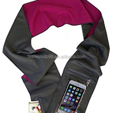 Smartphone Scarf- fits both Mobile phone and Plus- Touch Pocket- Back Camera Window packet scarf