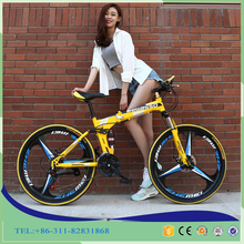 20''24''26 Inch Carbon Steel Frame Folding Bikes 24 Speed Variable Speed Bicycle Double Disc Brakes Men and Women