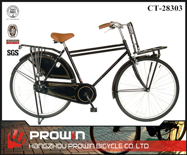 Holland market 28 inch black mens retro city bikes/dutch style bike for sale (PW-CT28303)