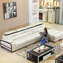 Made in china luxury silver leather sofa