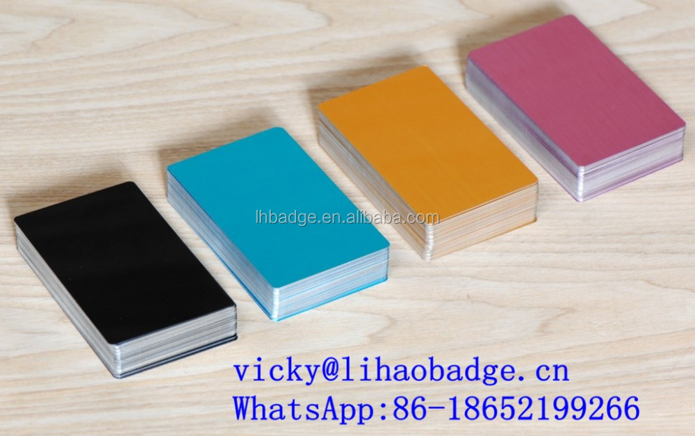 metal business card blank anodized aluminum cards View