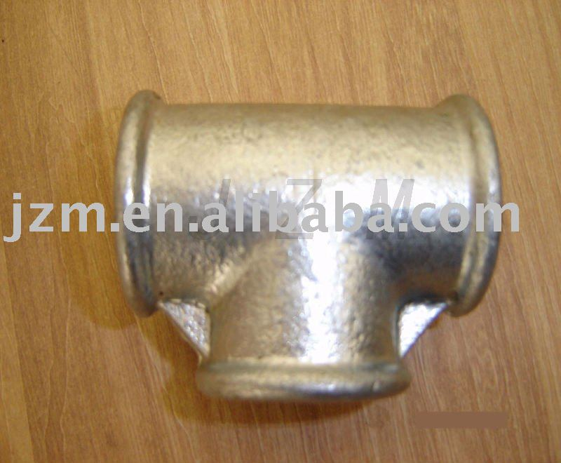 Jizhong hot dip galvanized cast iron pipe fitting tee 130