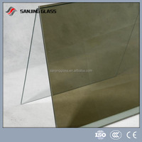 high quality good flatness clear reflective glass price 4-6mm