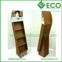 Supermarket Floor Chocolate Cardboard Display,Corrugated Cardboard Advertising Display Stands Rack For Chocolate Retail