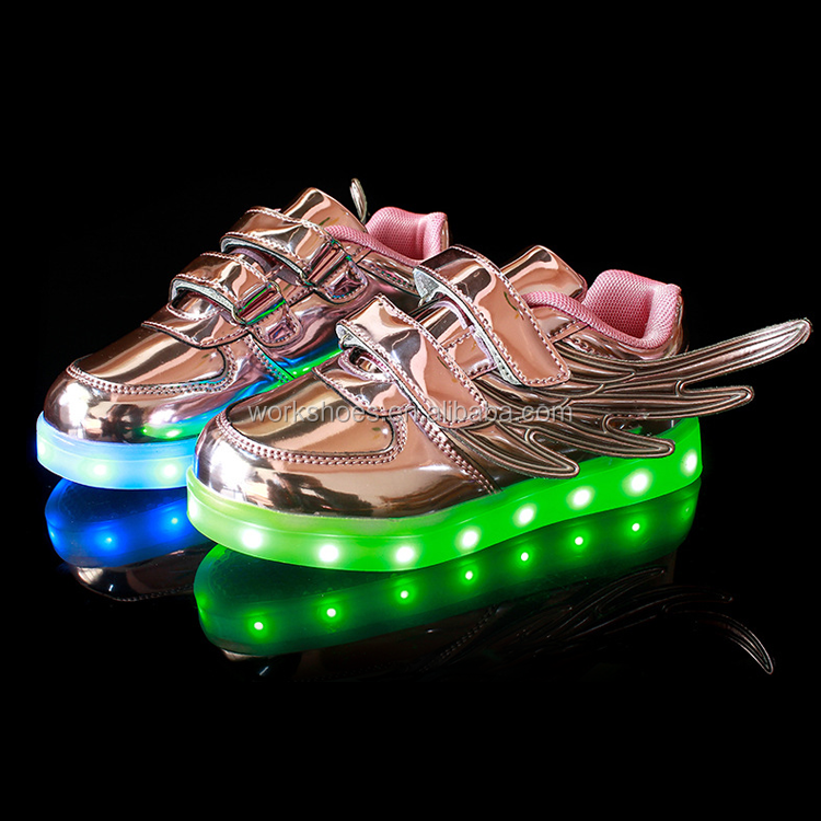 hot selling led shoes sneaker wing shape light up shoes