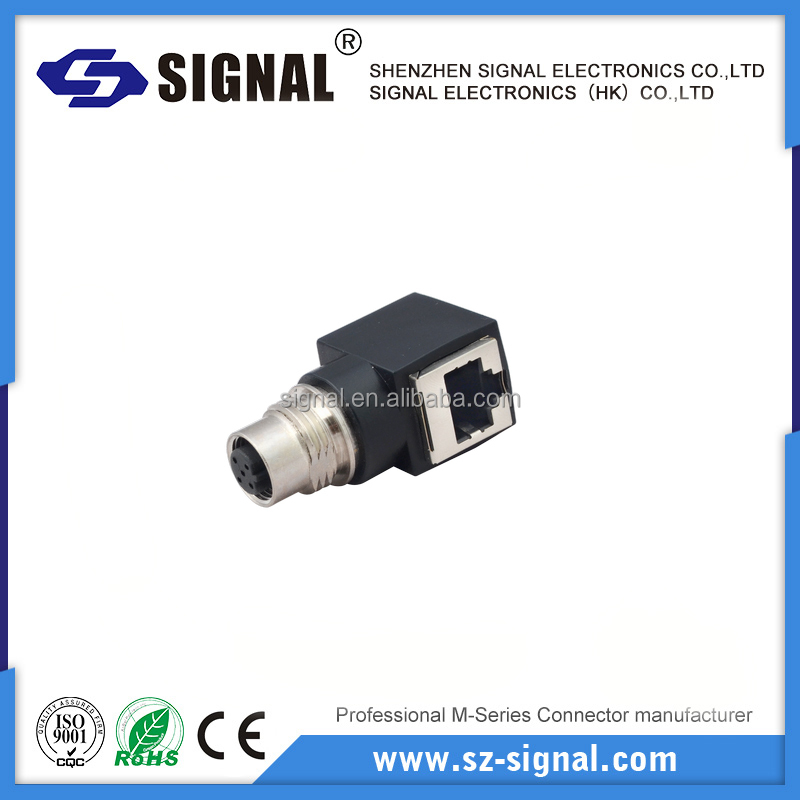 m12 male to rj45 adapter ip 67 sensor cable connectors PG9