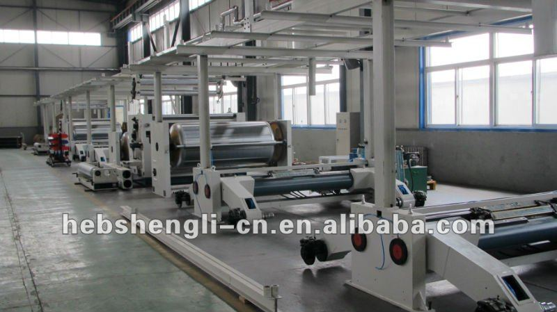 corrugated paperboard production line single facer group